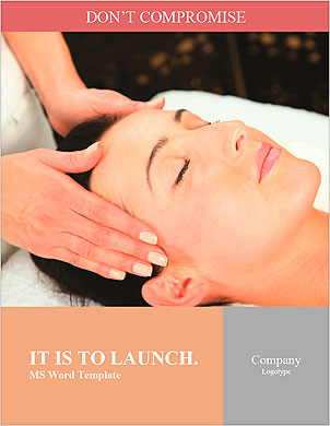 Young woman receiving massage - SPA Word Template - Page 1
