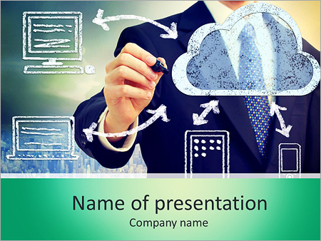 Cloud computing, technology connectivity concept PowerPoint Template