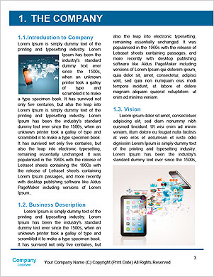 Modern communication technology illustration with mobile phone and high tech background Word Template - Page 3