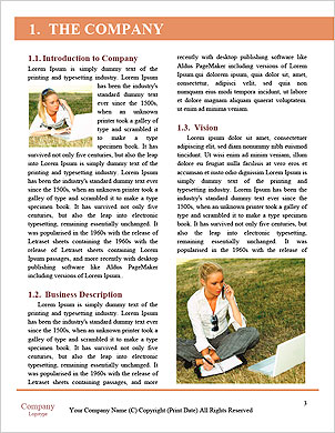 Happy Woman Looking and Text Messaging On The Smart Phone Word Template - Page 3