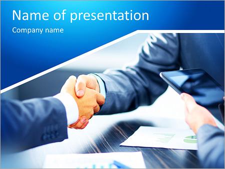 Obchodní handshake PowerPoint šablony