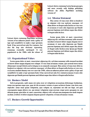 Obchodní handshake Word šablony - Stránky 4