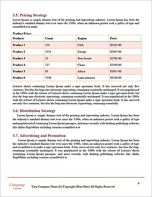 Online market Word Template - Page 9