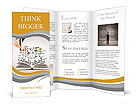 Hand drawing business concept and open book Brochure Template