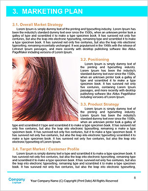Woman beauty, young beautiful woman with water sparks Word Template - Page 8