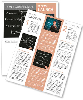 Business hand writing person or employee motivation concept Newsletter Template