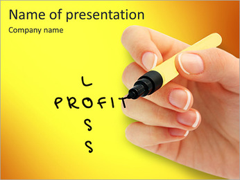 Profit or loss PowerPoint Template