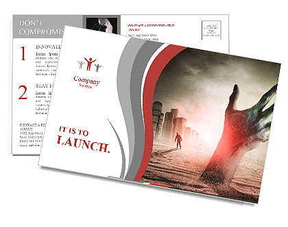 Zombie Rising. A hand rising from the ground! Postcard Template