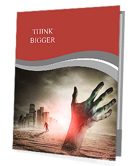 Zombie Rising. A hand rising from the ground! Presentation Folder