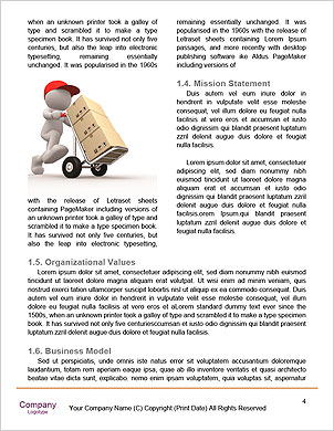 Delivery. 3D Little Human Character transporting a Box. Word Template - Page 4