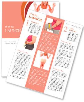 Grande femme sur une échelle - le concept de régime Newsletter