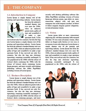 Podnikatel ruka jako prst chůzi koncepce partnerství Word šablony - Stránky 3
