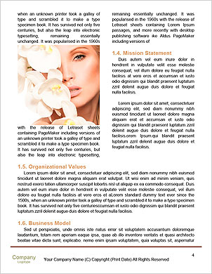 Beauty face of the young beautiful woman with flower. Girl on white background Word Template - Page 4