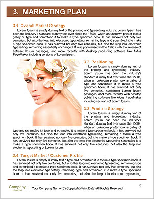 Beauty face of the young beautiful woman with flower. Girl on white background Word Template - Page 8
