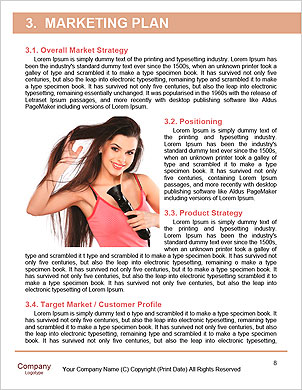 Young, beautiful brunette with a hair dryer Word Template - Page 8