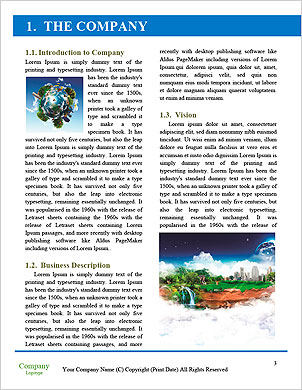 With the different elements on its surface. Word Template - Page 3