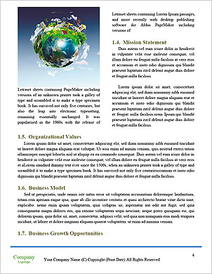 With the different elements on its surface. Word Template - Page 4