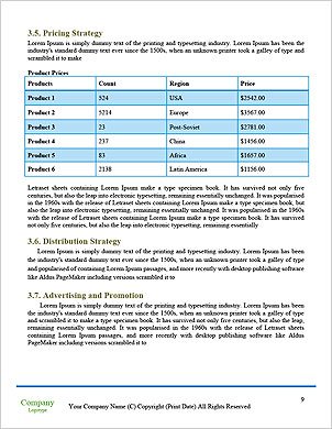 With the different elements on its surface. Word Template - Page 9