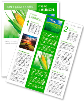 Corn field Newsletter Template
