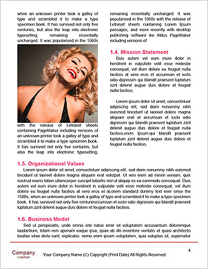 Glamour pin up actress with balloons Word Template - Page 4