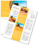 Combine harvester on a wheat field with a blue sky Newsletter Template
