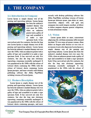 Earth with the different elements on its surface. Humorous collage. Word Template - Page 3