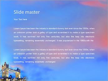 Tower Bridge in the evening in London, UK PowerPoint Template