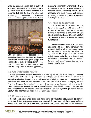 Beautiful Old Styled Interior Word Template - Page 4