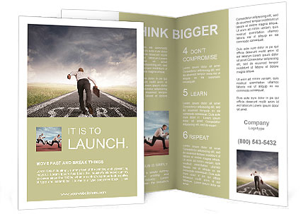 Concept of competition in the business Brochure Template