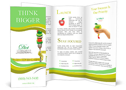 Diabetes Brochure Template | Fresh Mixed Vegetables On Fork With Measuring Tape Brochure Template