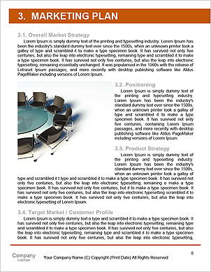 Conference. Concept. 3d illustration Word Template - Page 8