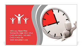Deadline. Image contain clipping path Business Card Template