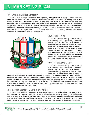 Alternatives. 3D little human character carrying a large green pile of Ring Binders. People series. Word Template - Page 8
