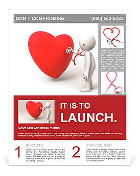 Love/A person are diagnosing the heart Flyer Template