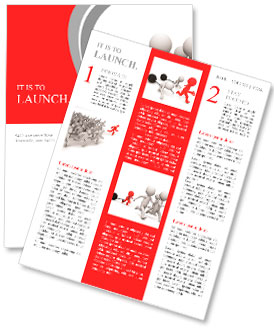 Race/competition /win/success/Four people in the race Newsletter Template