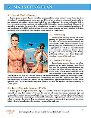 Just-married couple standing by blue lagoon Word Template - Page 8