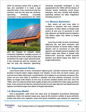 Collage with solar batteries as alternative source of energy Word Template - Page 4