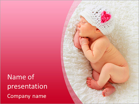 Newborn Baby Girl Asleep On A Blanket This Image Is Also Available