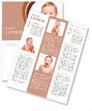 Joyful baby boy Newsletter Template