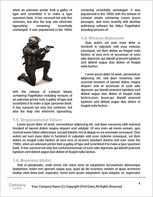 Portrait of a serious young soldier standing against a grey background Word Template - Page 4