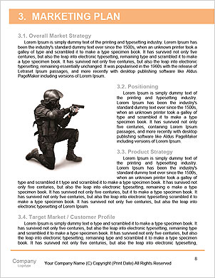 Portrait of a serious young soldier standing against a grey background Word Template - Page 8