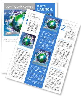 Collage with solar batteries as alternative source of energy Newsletter Template