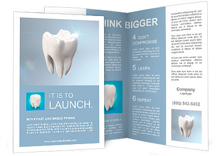 The health of white tooth for tooth care concept. Brochure Template