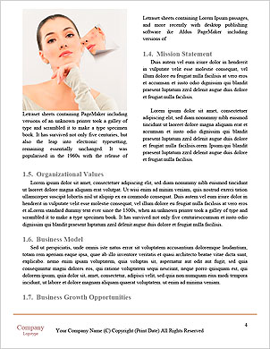 A beauty girl on the grey background Word Template - Page 4