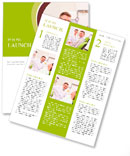 Patient on reception at the dentist Newsletter Template