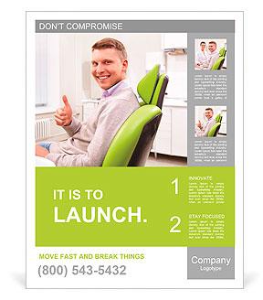 在牙科诊所的病人 宣传画