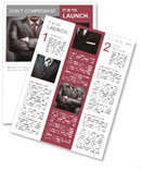 Closeup businessman suit high resolution Newsletter Template