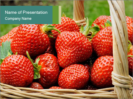 Ripe Strawberry PowerPoint Template