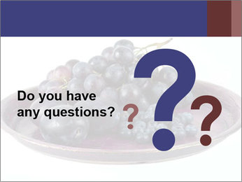 Blueberries And Wine Grapes PowerPoint Template