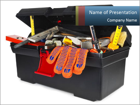 Big Box Full Of Instruments I pattern delle presentazioni del PowerPoint